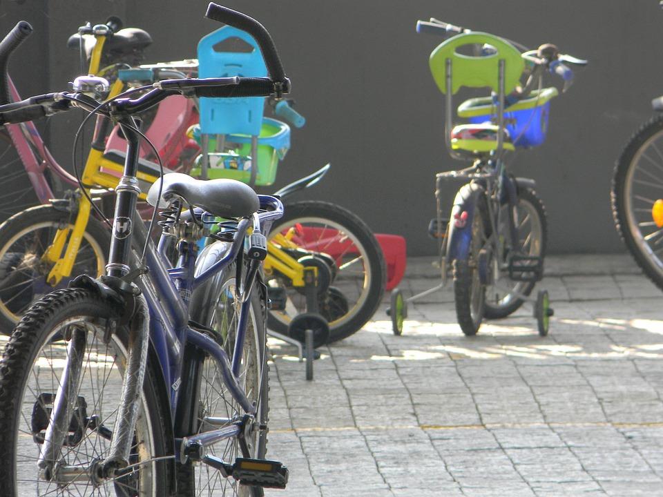 Fahrrad, Kinder, Spaß, Glücklich, Kindheit, Familie