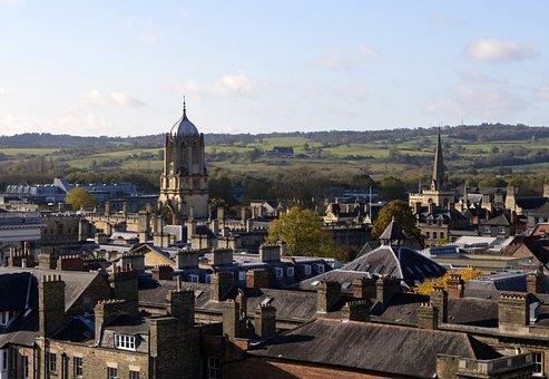 Oxford, Stadt, Skyline, Gebäude