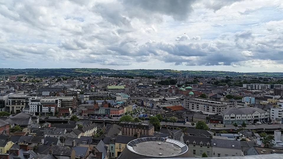 Cork city view from shandon Bell tower