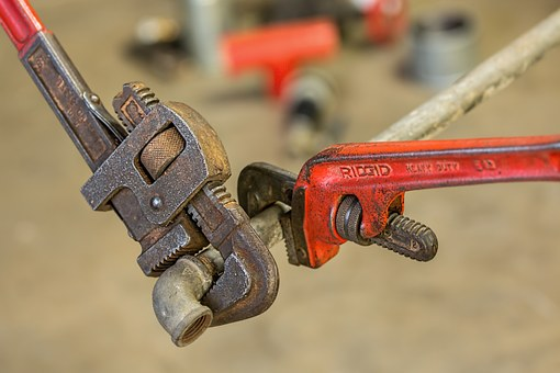 Plumbing, Pipe Wrench, Repair