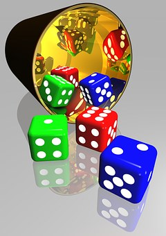 Dice, Gaming, Play, Luck, Chance, Gamble