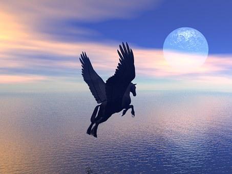 Pegasus, Horse, Winged, Mythology