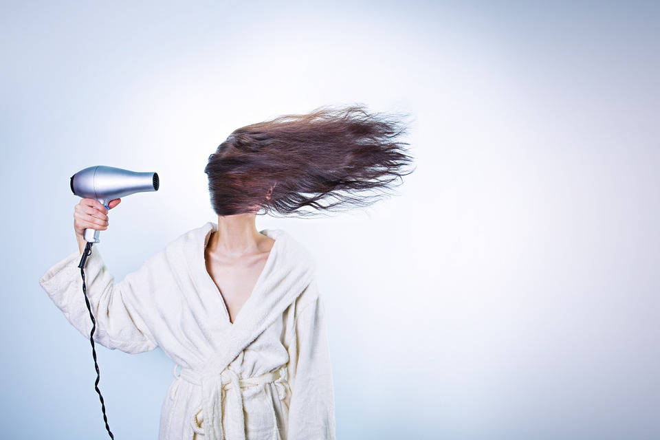 Woman, Hair Drying, Girl, Female, Person, Attractive