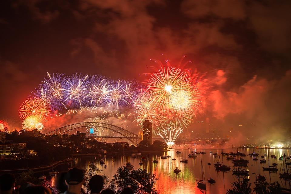 Sylvester, New Year, 2015, Sydney, Australia, Harbour