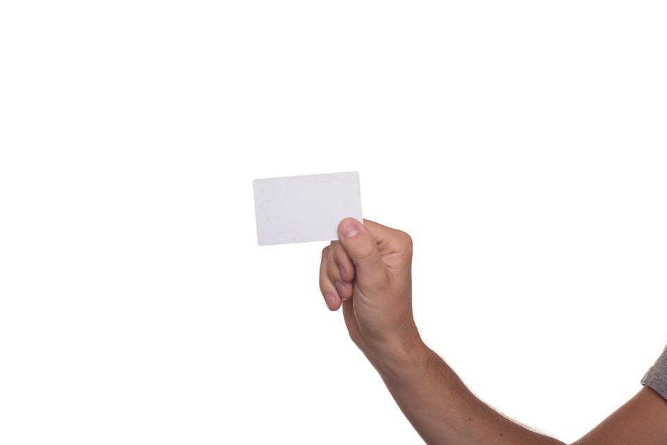 Visitekaart, Kaart, Tonen, Vasthouden, Overhandigen