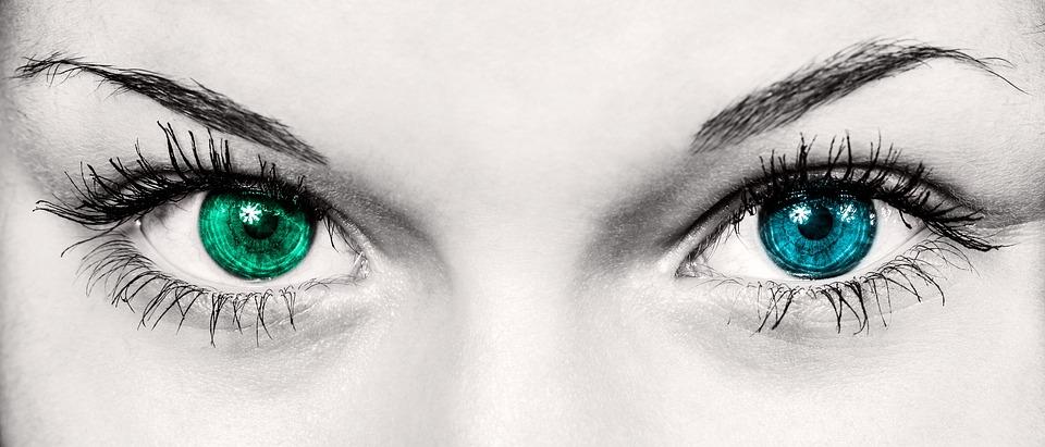 目, 女性, ファッション, 美しい, アイリス, 生徒, 見, ビュー, 美しさ