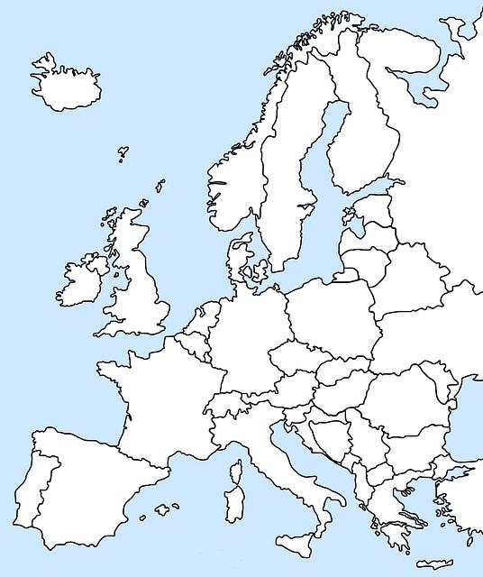 europa karte kostenloses bild auf pixabay. Black Bedroom Furniture Sets. Home Design Ideas