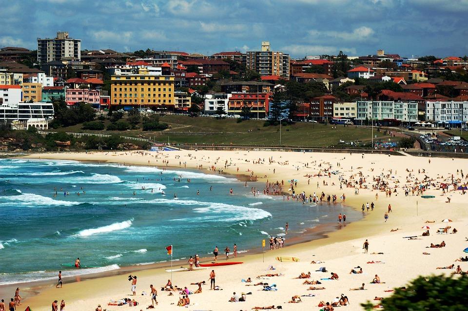 Бонди Бийч, Сидни, Австралия, Плаж, Море