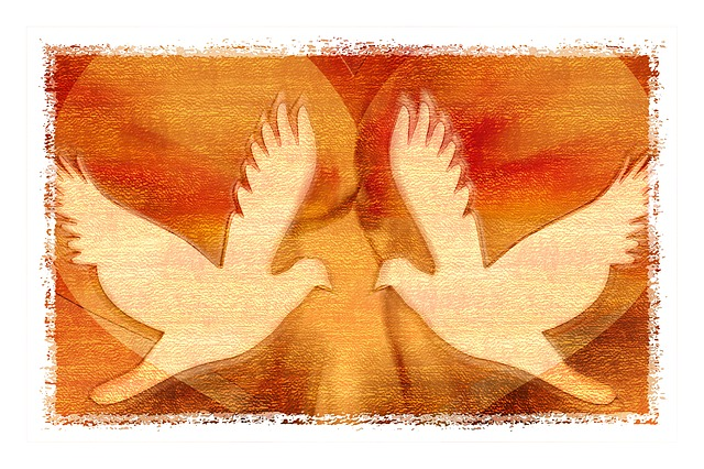 Free Illustration Peace Dove Peace Pigeons Heart