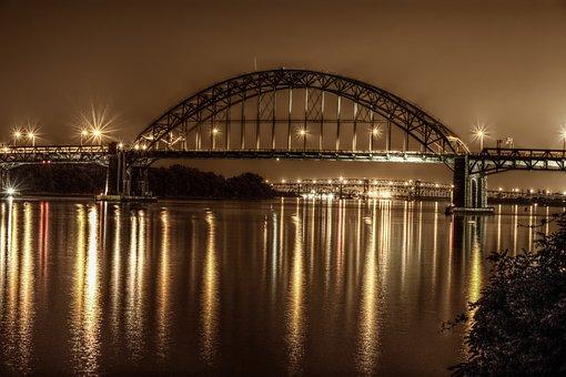 Bridge, Philadelphia, Night