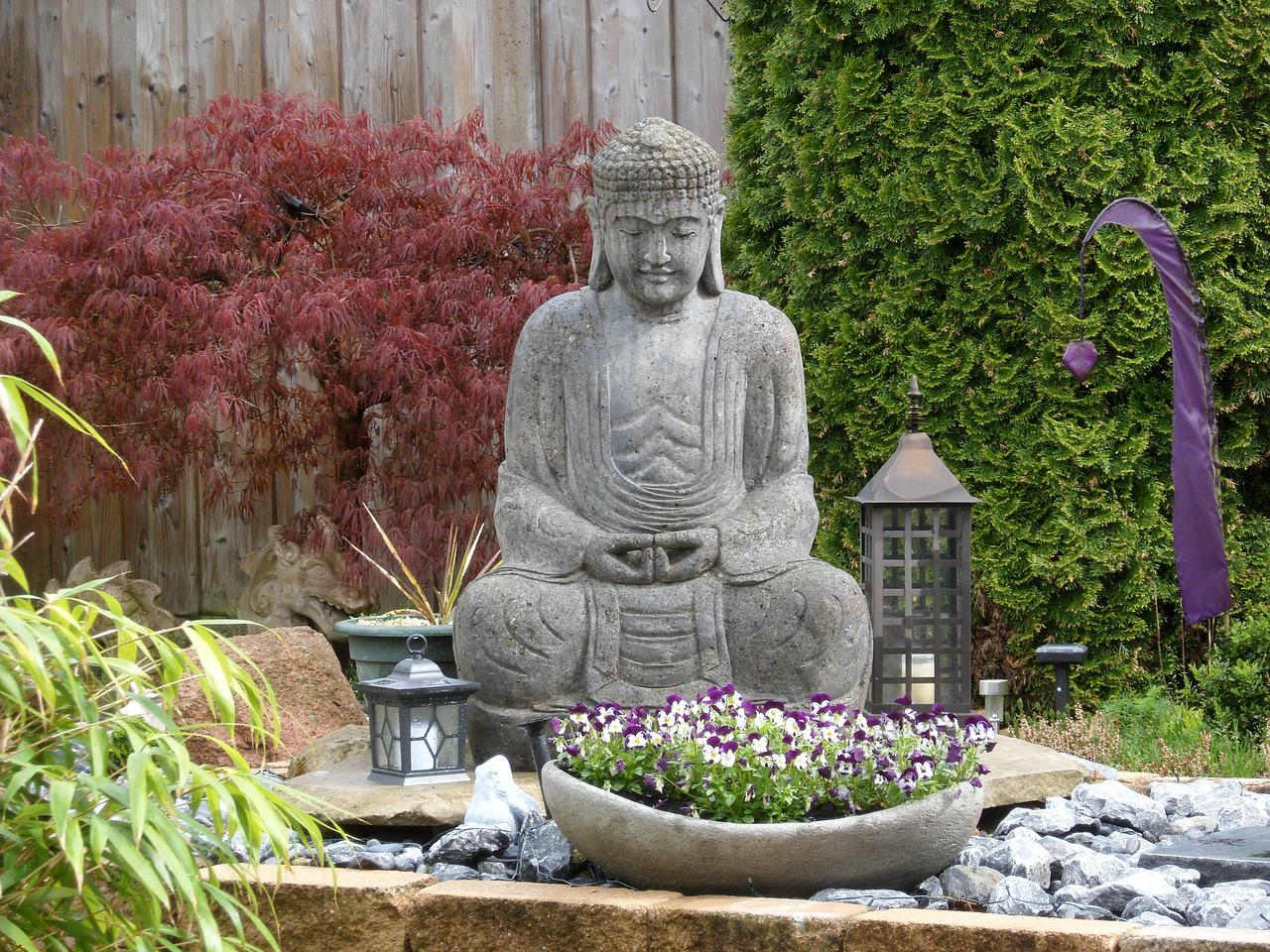 Buddha Garden Sculpture Free Photo On Pixabay