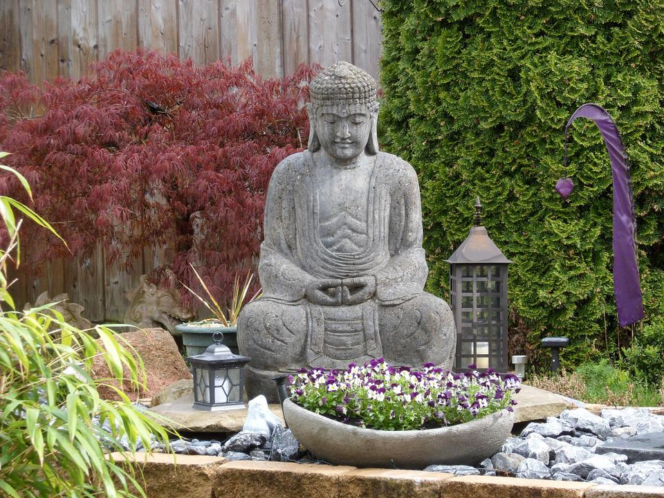 Superb Buddha, Garden, Sculpture, Figure, Asia, Yoga