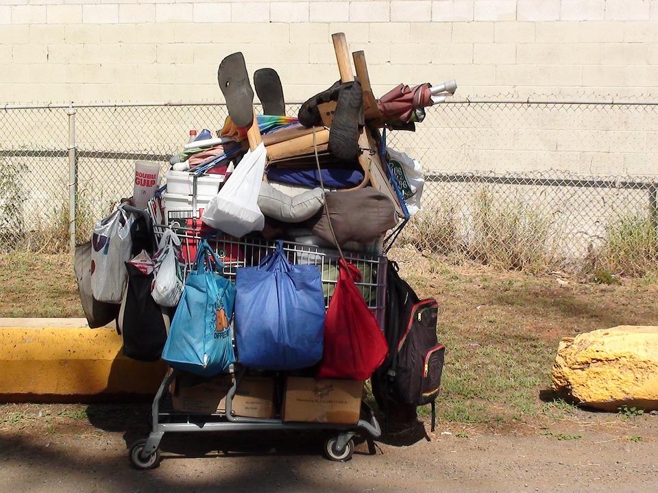 ホームレス ショッピングカート ...