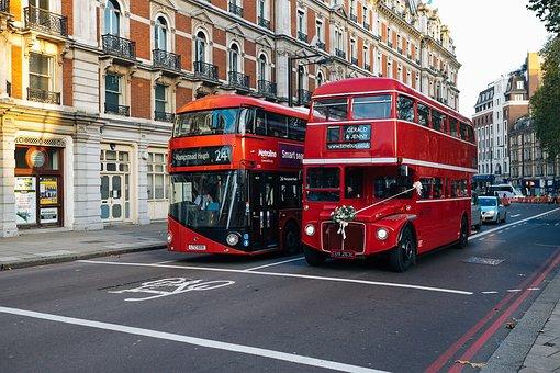 London, Bus, Double Decker, Road