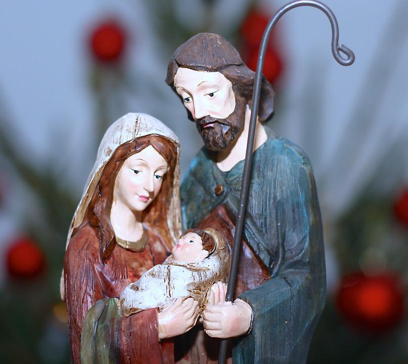 God Jul, Julkrubba, Jesusbarnet, Betlehem, Maria, Josef