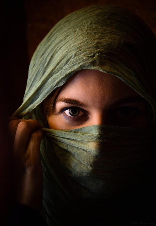 Woman, Girl, Eye, Models, Scarf, Beauty, Arabic, Veil