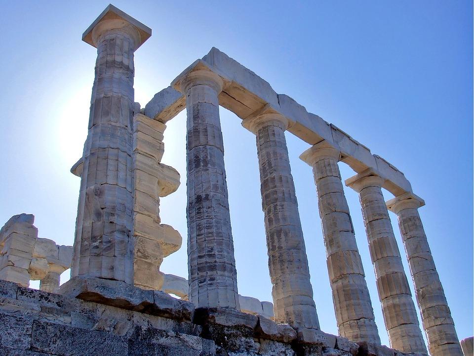 Ancient, Greek, Temple, Temple Of Poseidon, Sounio