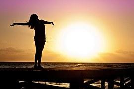 Woman, Girl, Freedom, Happy, Sun