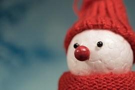 Snow Man, Winter, Cap, Cold, Mood