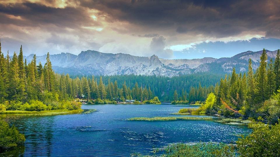 Mountains Woodland Lake Free Photo On Pixabay
