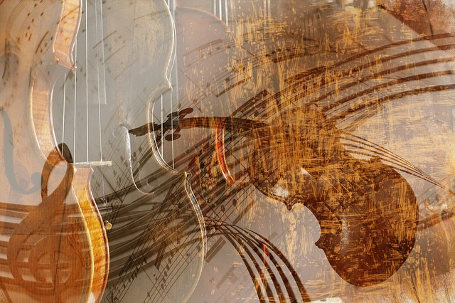 Wave Vector Png Violin Background Text...