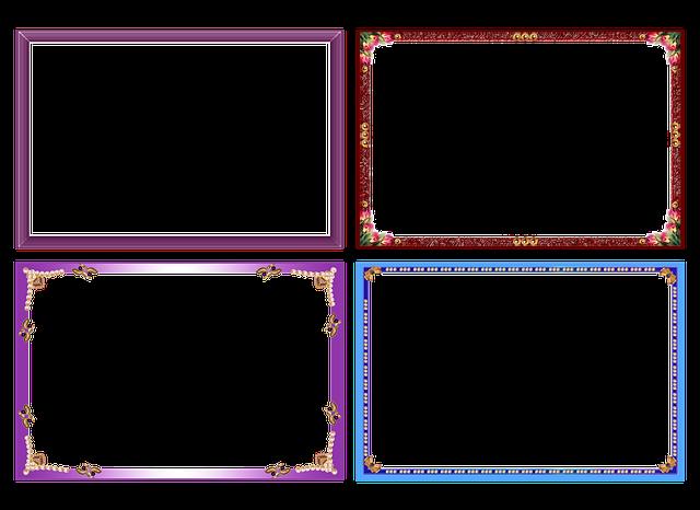 colorful frame border design.  Frame On Colorful Frame Border Design R