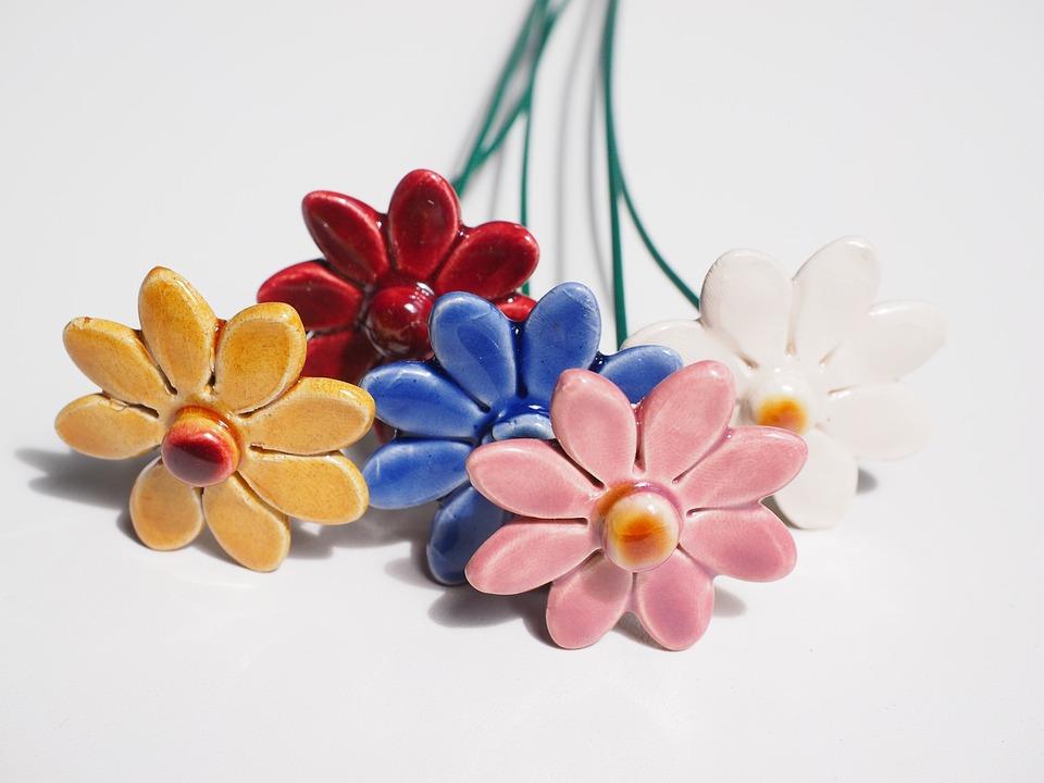 Fiori Di Ceramica.Fiori Di Ceramica Tonblumen Foto Gratis Su Pixabay