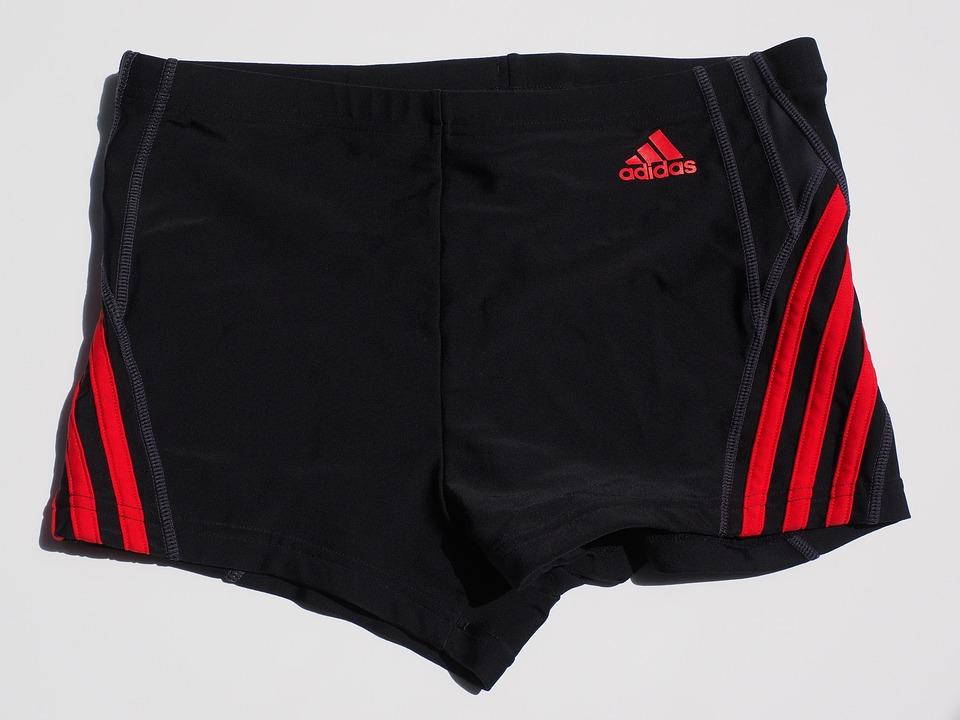 branded men's swimming trunks