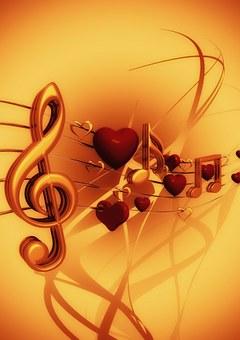 Clef La Musique Amour Coeur Clef De Sol So