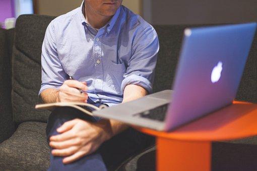 Startup, Business, Businessman, Notebook