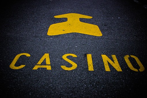 Casino, Note, Roadway, Mark, Arrow