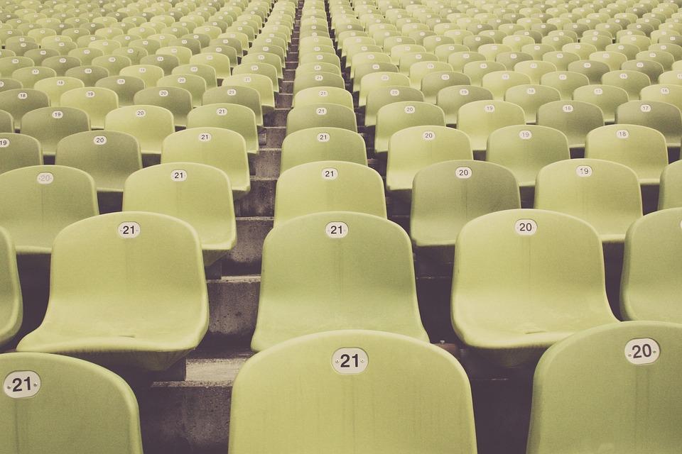 Zuschauertribünen, Stadion, Fussball, Zuschauer, Fan