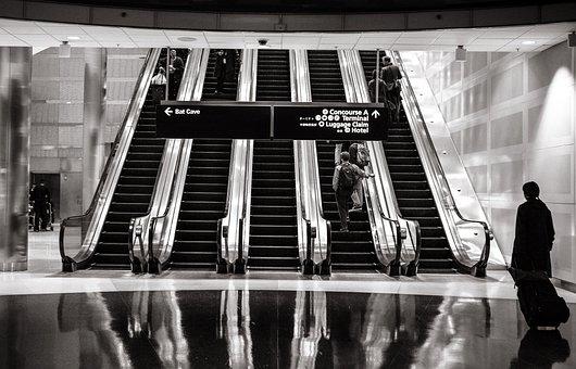 Escalators Shopping Mall Up Stairs Mall Sh