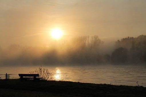 Rhein, Nebel, Stimmungsbild, Landschaft