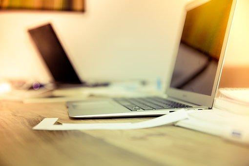 ホーム オフィス, オフィス, Web, のデスクトップ, ノート パソコン