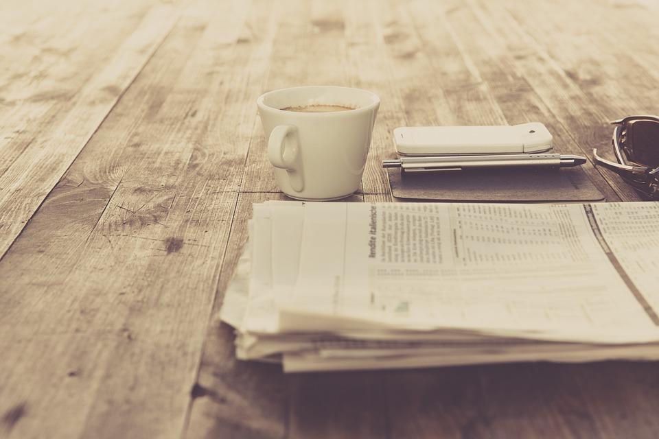 Εφημερίδα, Καφέ, Εκλεκτής Ποιότητας, Ρετρό, Τραπέζι