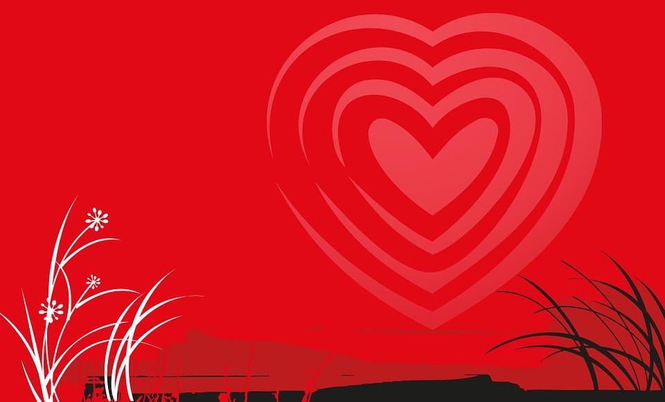 Valentin, Herz, Valentinstag, Liebe, Landschaft