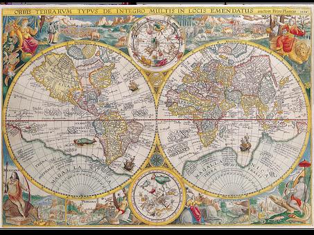 Mapa, Atlas, Geografía, La Tierra