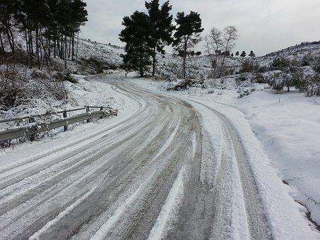 Ice, Snow, Road, Winter, Cold, Season