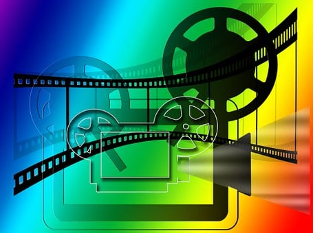 映画, プロジェクター, 映画の映写機, シネマ, デモ, フィルム ストリップ