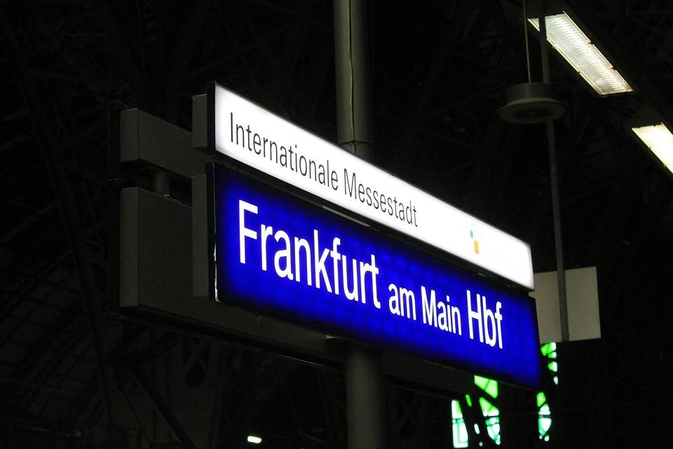 Frankfurt, Main, Bahnhof, Messe, Messestadt