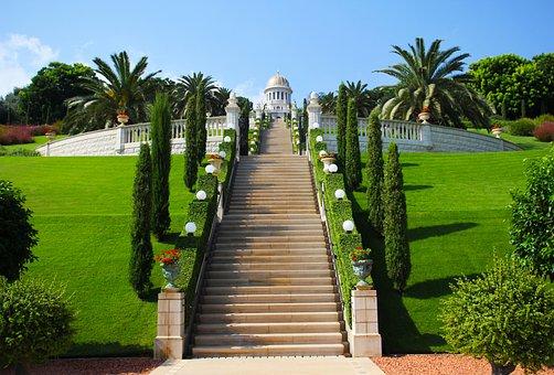 Haifa, Israel, Green, Temple, Religion