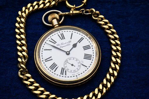 Clock, Pocket Watch, Gold, Valuable