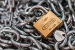 padlock, lock, chain