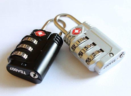 南京錠, 袋のロック, 旅行のための南京錠, セキュリティ