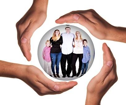 Mãos, Proteger, Proteção, Pai, Família