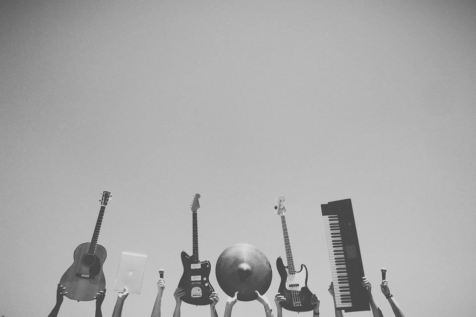 音楽, 楽器, ギター, バンド, スタジオ, マイク, Macbook, コンピュータ, サウンド