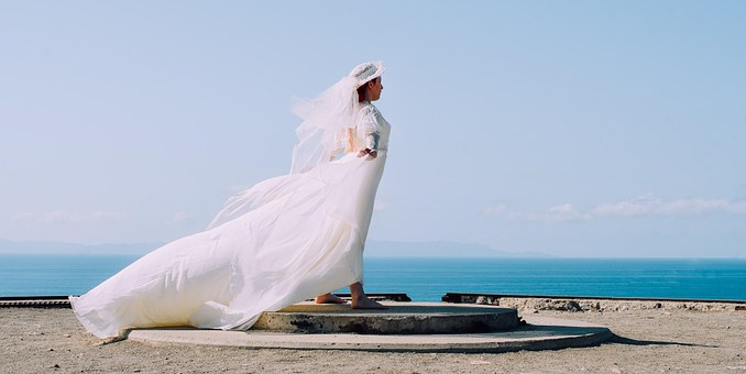 Marriage, Bride, Gown, Dress, White