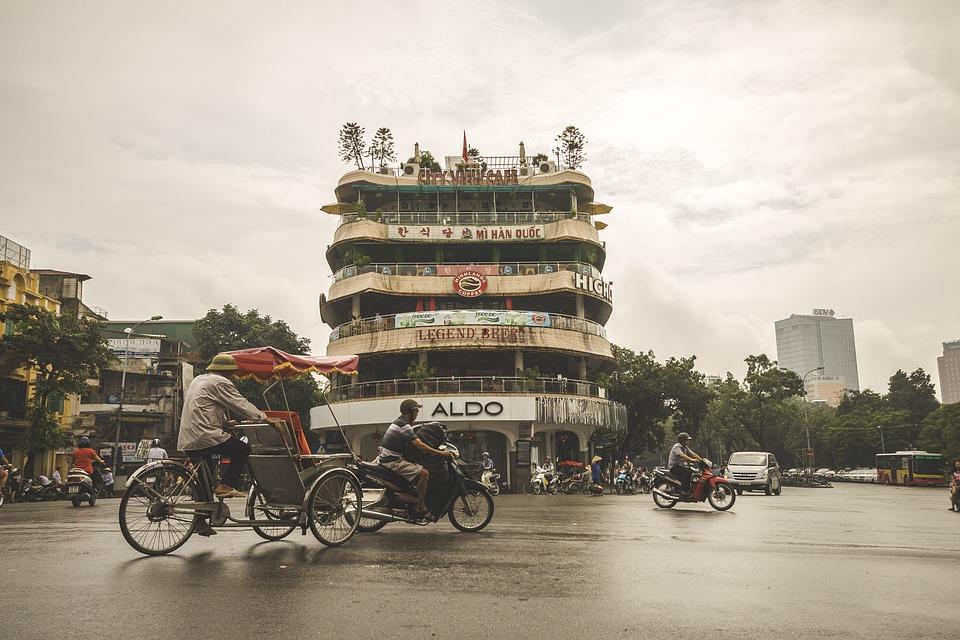 Ulicy, Hanoi, Wietnam, Asia, City, Asian, Budynku