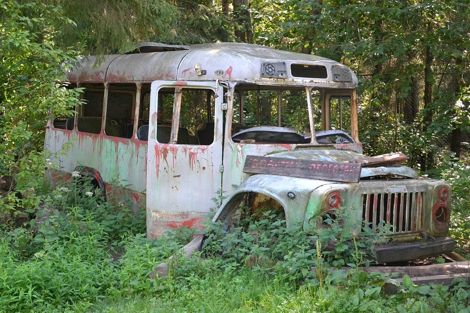 The Abandoned Bus Old 183 Free Photo On Pixabay